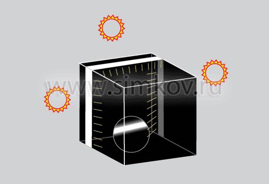 Стрип панель на блек-боксе - схематическое изображение
